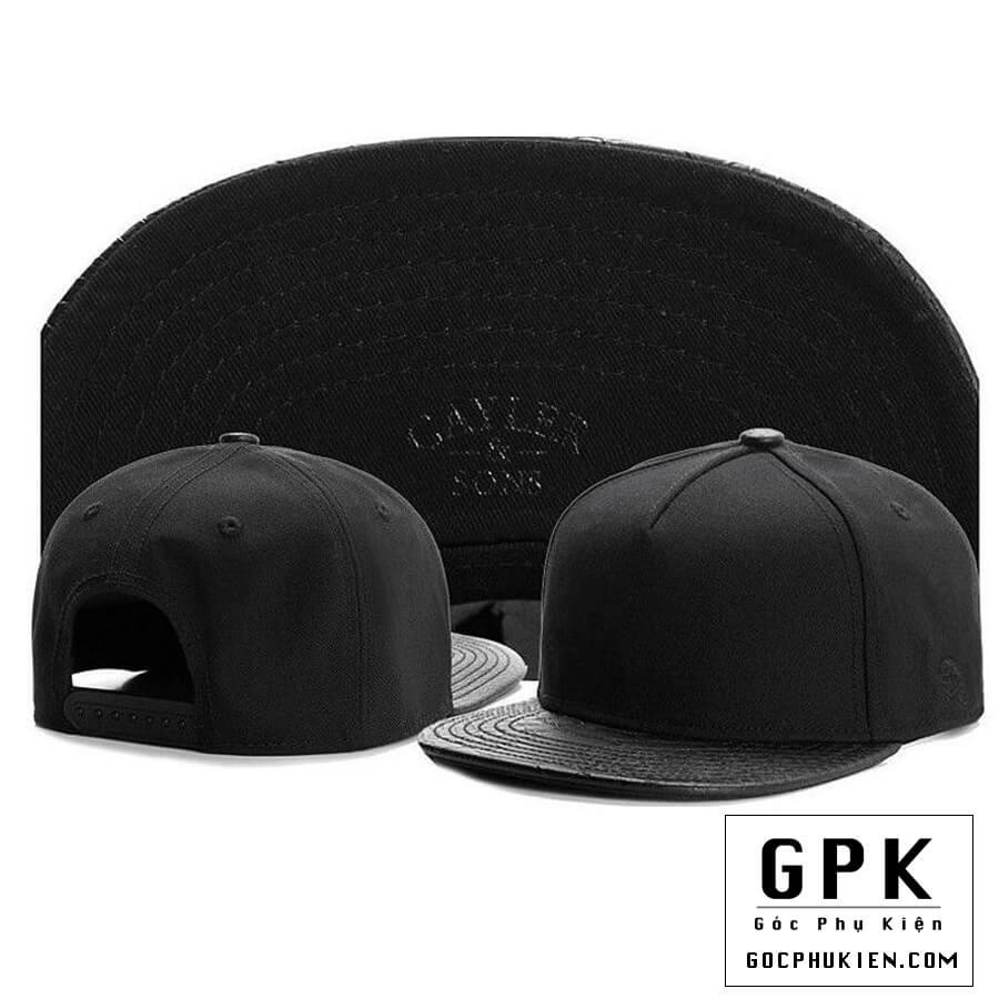 Mũ snapback đen trơn cực chất