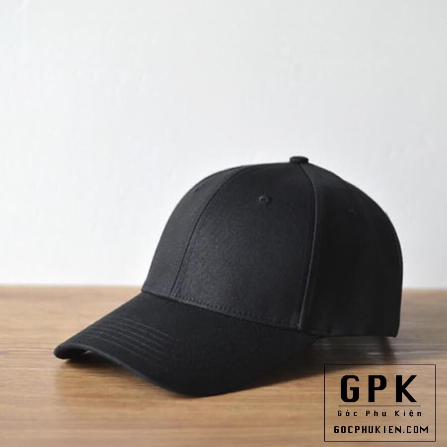 Mũ lưỡi trai đen trơn dành cho nam