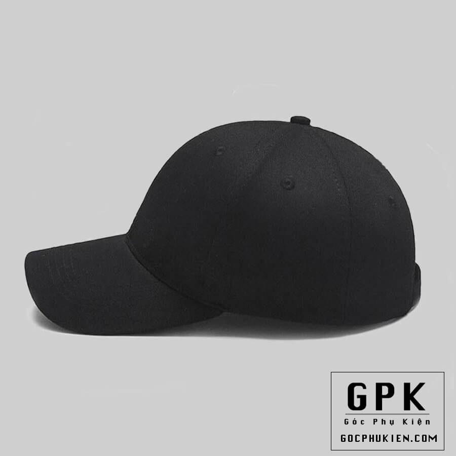 Mũ lưỡi trai đen trơn phong cách hàn quốc , bụi bặm và nam tính