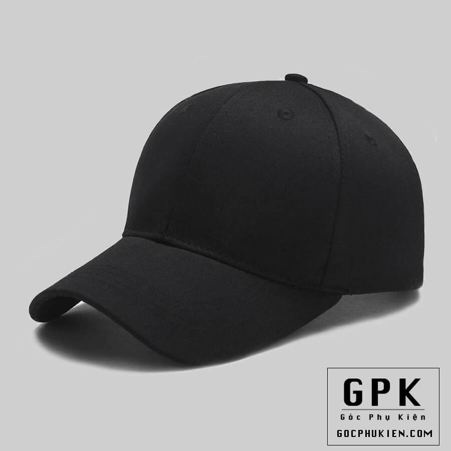 mũ lưỡi trai đen trơn