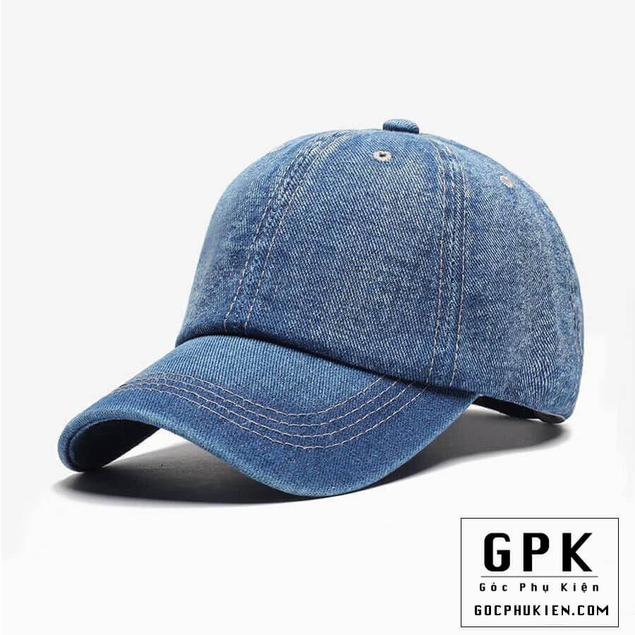 Mũ lưỡi trai vải jeans màu xanh M_04