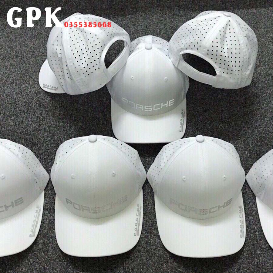 Mũ nón lưỡi trai kiểu lưới màu trắng