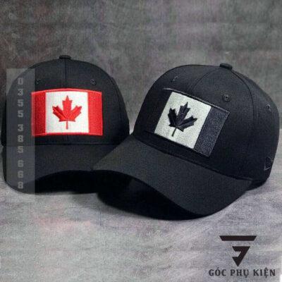 Mũ lưỡi trai đen logo màu đỏ